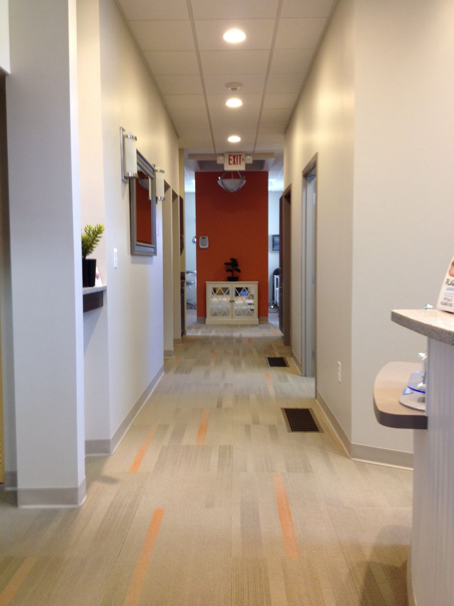 Sherborn Family Dental hallway